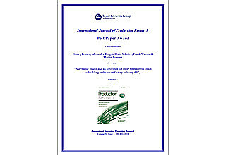Best Paper Award in International Journal of Production Research