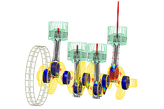 dynamic model of the crank drive